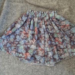 American Apparel Chiffon Floral mini skirt
